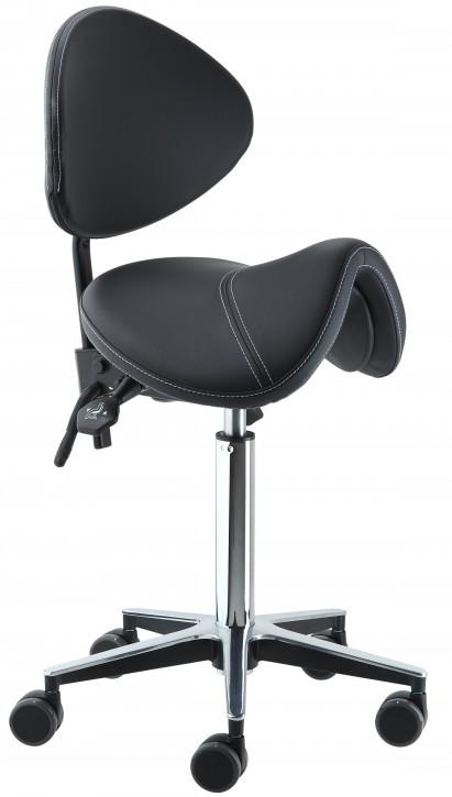 """Sattelhocker """"Balance"""" mit aktiv-dynamischer Sitzfläche und Rückenlehne"""