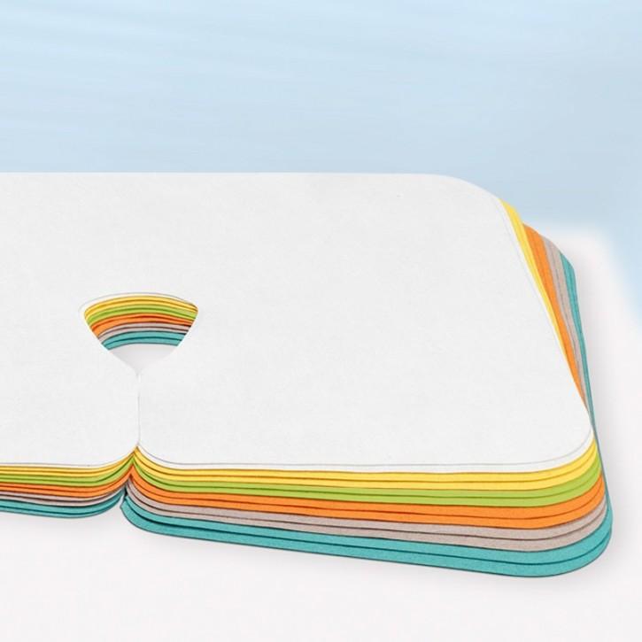 Color Nasenschlitztücher waschbar