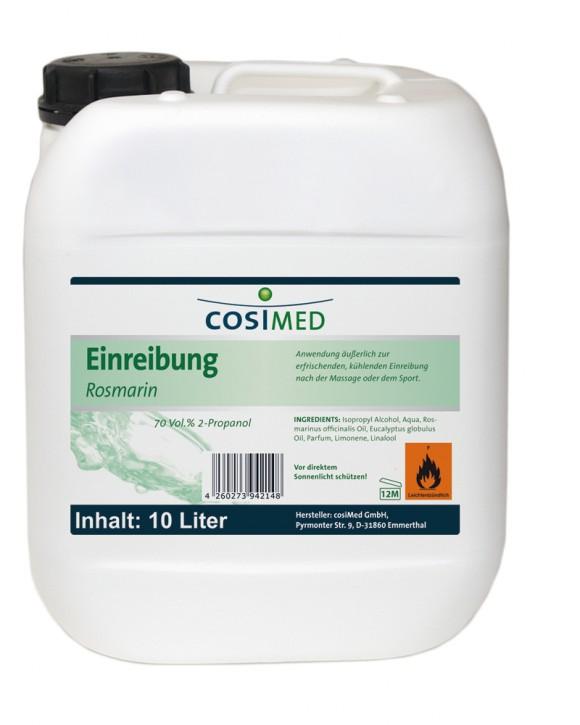 Einreibung Rosmarin 10 Liter 70 vol %