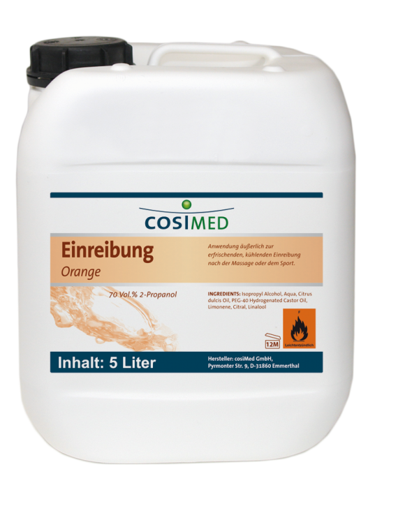 Einreibung Orange 5 Liter 70 vol %