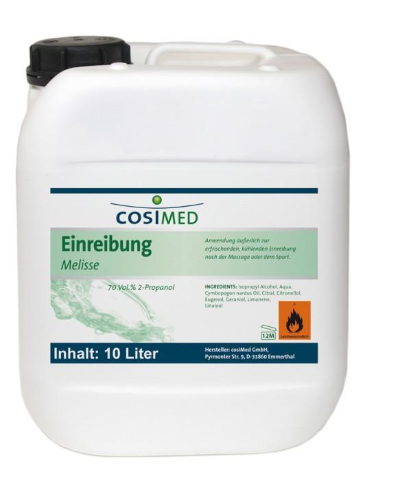 Einreibung Melisse 10 Liter 70 vol %
