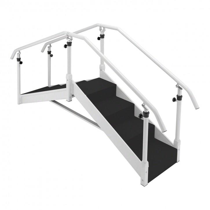 Übungstreppe mit verstellbarem Handlauf - Gerade Ausführung