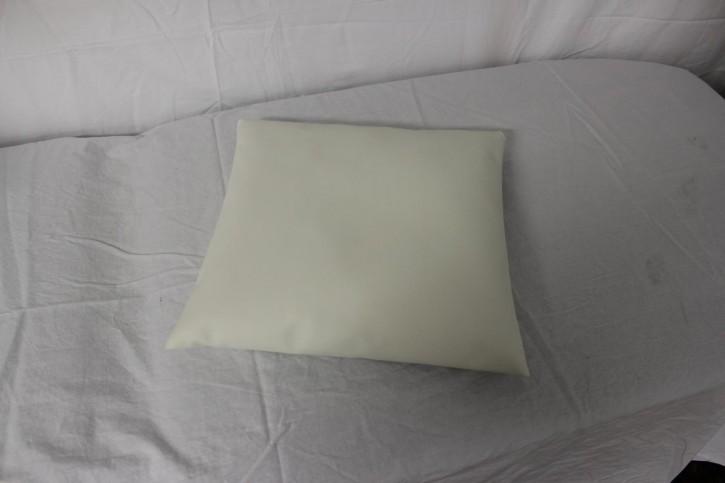 Kopfkissen mit Styroporkugeln 35 x 35 x 8 cm - Farbe: weiß - Neuware