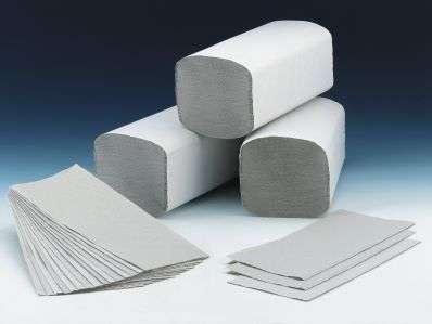 Papierhandtücher und Spender