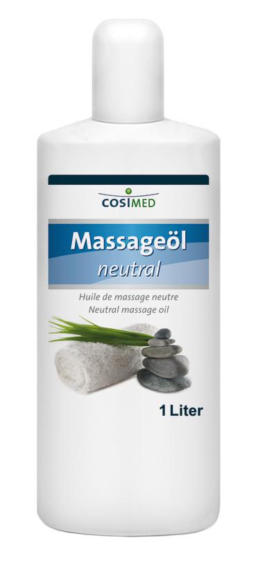 Massageöl neutral 1000 ml - Flasche