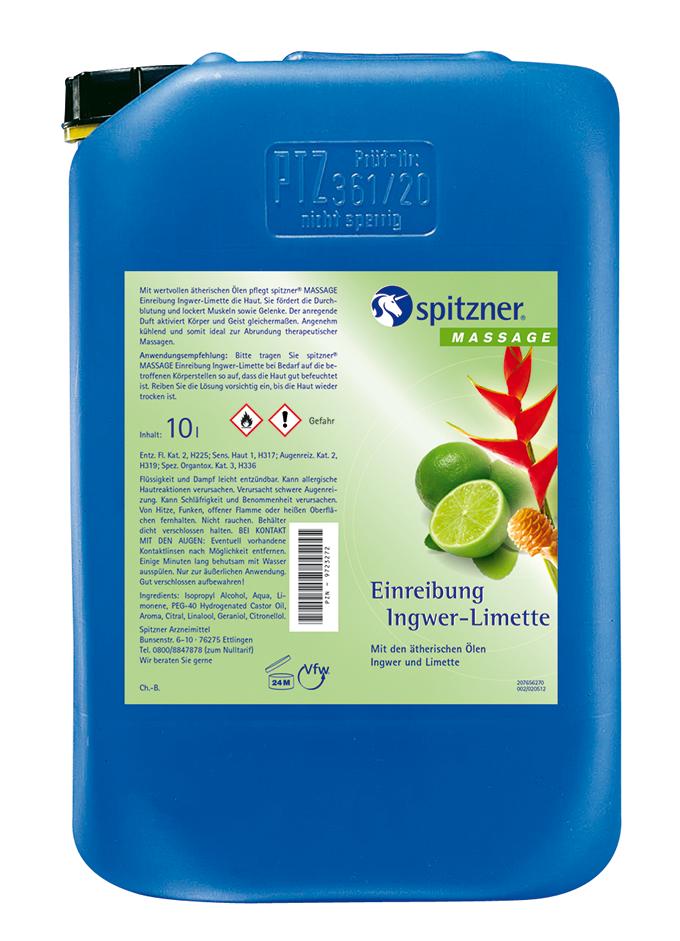 Einreibung Ingwer-Limette 10 l