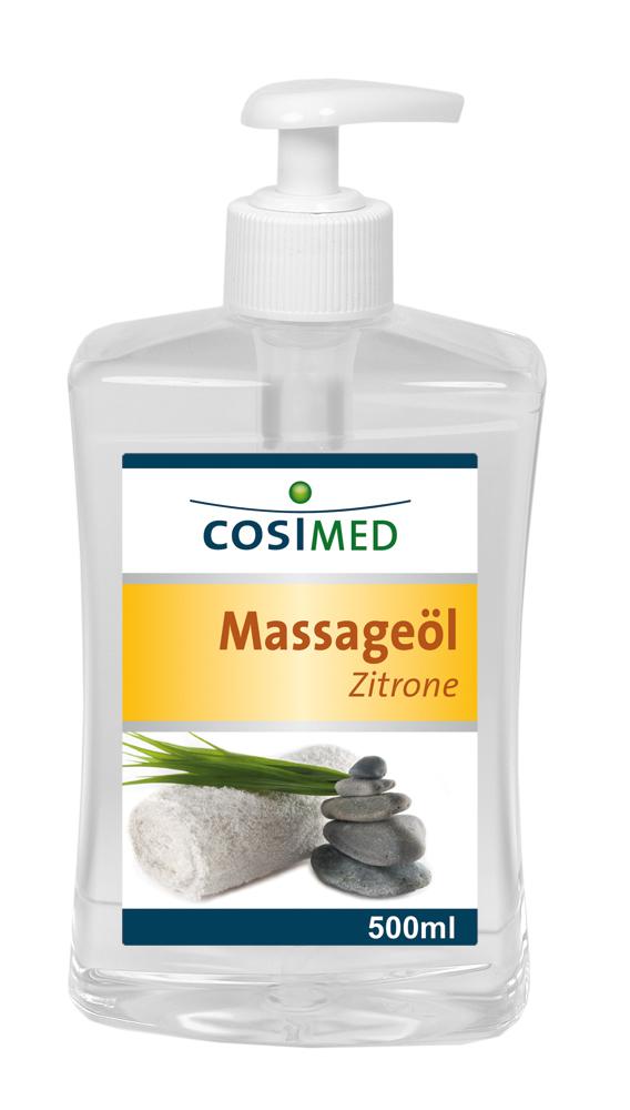 Massageöl Zitrone 500 ml - Dosierflasche