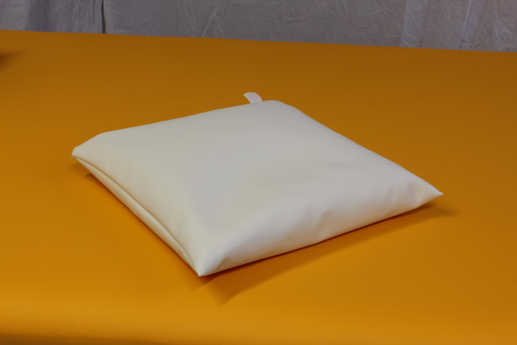 Kopfkissen mit Styroporkugeln 35 x 35 x 8 cm - Farbe: weiß