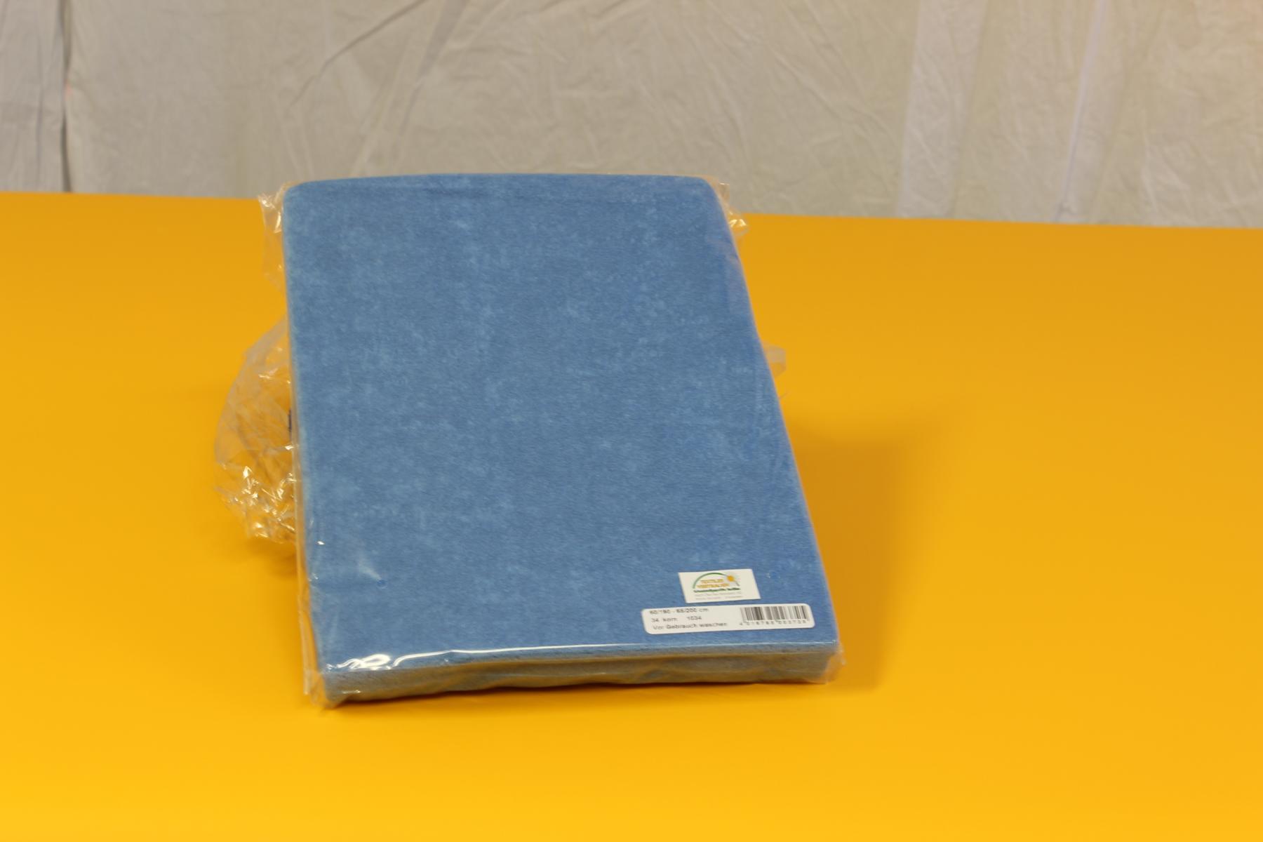 Frottee-Spannbezug für Therapieliege 60-70 cm breit - Farbe: Korn