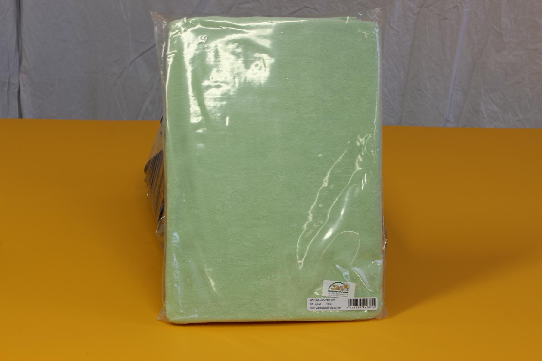 Frottee-Spannbezug für Therapieliege 60-70 cm breit - Farbe: Opal