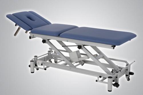 Therapieliege Neapel inkl. Rädergestell, Rundumschaltung und 3-geteiltem Kopfteil (Sonderaktion)