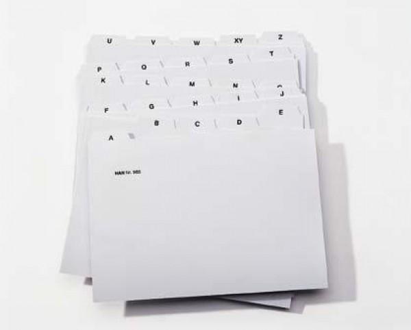 Registerkarten A-Z