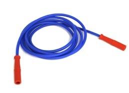 Vakuum-Elekrodenkabel blau/rot
