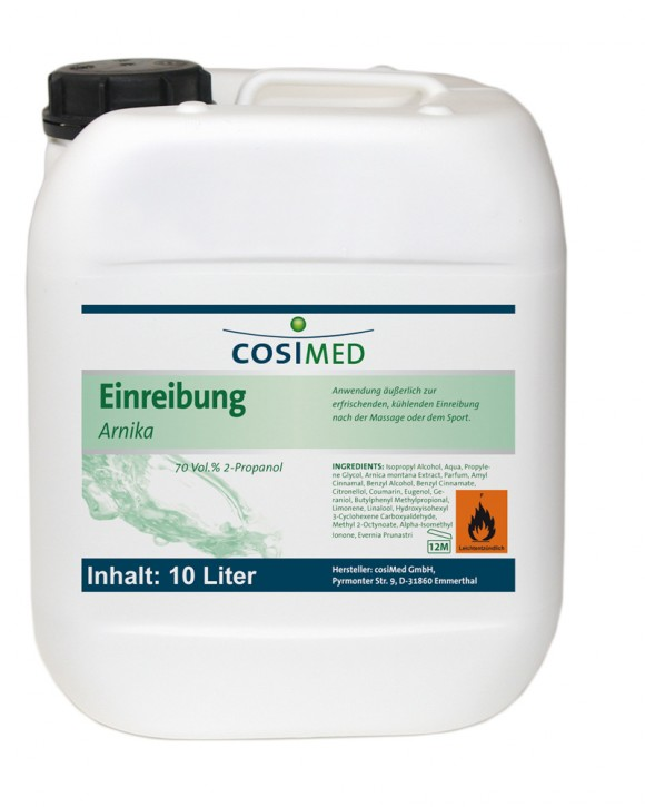 Einreibung Arnika 10 Liter 70 vol %