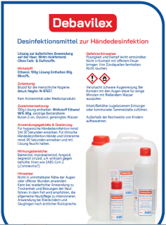Händedesinfektionsmittel Debavilex 500 ml Flasche